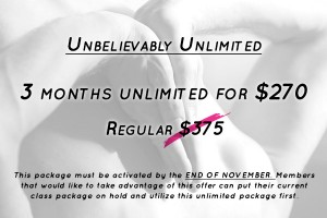 yoga unlimited special