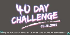 40 Day Challenge Banner Medium