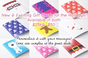 holiday gift cards yoga