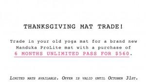 charity mat trade hot yoga markham