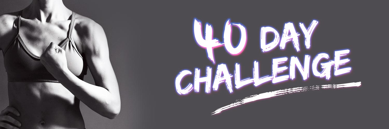 40 day challenge banner