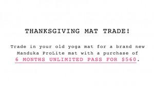 charity yoga mat trade