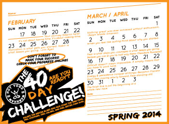 calendar 2014 40 day challenge